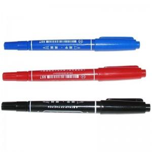 英雄 887 小双头油性记号笔(黑色 蓝色 红色)