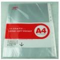 得力(deli)5710 11孔文件袋 文件保护袋 资料备用袋(20只)