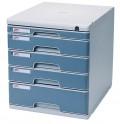 得力 (deli)9765 五层硬塑文件柜 带锁  环保材料 无静电 有效防止灰尘吸附