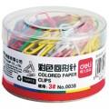 得力(deli)0038 29mm 彩色回形针 160只/盒