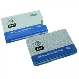 奥林丹 9131红色 9132蓝色 9134白色 铁盒打印台