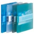 得力(deli)5321 A4 透明斜纹单强力夹 文件夹  背宽18mm 颜色随机(12只装)
