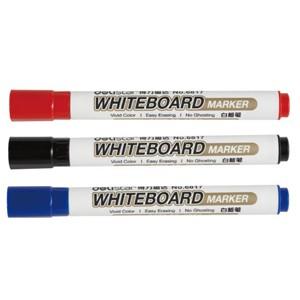 得力(deli)6817 2.0mm 粗头白板笔(黑色 红色 蓝色)
