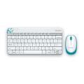 罗技(Logitech)MK240 无线键鼠套装 无线键盘 无线鼠标 多彩的/迷你的/适合年轻的你!(黑色 白色)