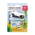 得力deli  0453 熊猫 卡通迷你订书机套装