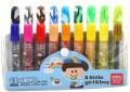 deli得力水彩笔 18色 儿童少儿画笔 小学生水彩笔 7056 PVC袋装