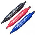 白金 CPM-150 大双头油性记号笔(黑色 蓝色 红色)