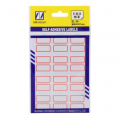 卓联自粘性标签 ZL20  财务标签 双面标签 手写标签 红色 不干胶