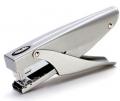 得力金属手握式中型订书机0346旋转钳式省力订书器12号标准装订机