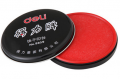 红色印泥 得力印台9859快干印油 金属圆形铁盒85mm 会计办公用品