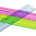 得力6209软尺子 30cm可弯曲直尺 日韩可爱塑料软尺 学生彩色直尺