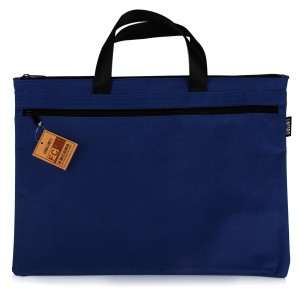 deli得力手提双层收纳袋 文件袋 手提公文包 5840 A4办公用品拉链袋资料袋 多色