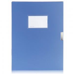 佳易来粘扣档案盒  A4 35cm 蓝色文件盒