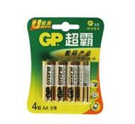 GP超霸电池 5号AA 1.5v 碱性电池 4粒/卡