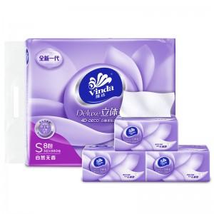 维达抽纸 抽取式维达纸面巾 立体美系列 食品级 可食品接触用 3层 110抽 抽取式面巾纸