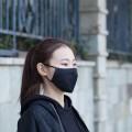 deli得力口罩 B级 PM2.5活性炭口罩 五层防护 B级防护 可替换PM2.5芯片 可调节鼻梁垫设计 1只装 单只独立包装 黑色 深蓝色 粉色