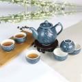 乾唐轩活瓷杯 鱼跃龙门茶具 宝石蓝碧玺负离子 1A03S