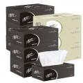 清风盒装抽纸巾 2层200抽 36盒/箱 经典商务盒装抽取式面巾纸 公司会议室办公适用