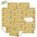 清风纸巾 3层120抽 24包/箱 金装原木纯品面巾纸抽纸巾餐巾纸卫生纸软抽